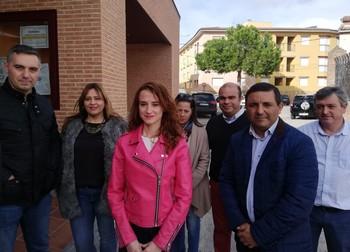 Diana López acudió al aperitivo navideño que organizó el PSOE de Mejorada (Toledo),