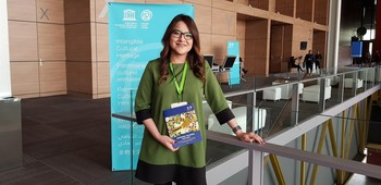La subdirectora de Patrimonio Cultural Inmaterial de la Dirección de Patrimonio Mundial del INAH, Edaly Quiroz Moreno. / EP