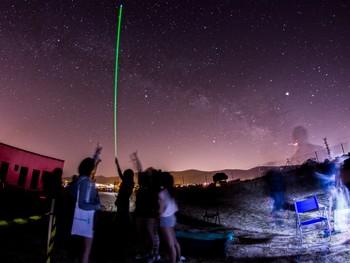 Cielo estrellado en Segovia, en una foto cedida por el Laboratorio de Astronomía.