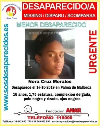 Buscan a una joven de 16 años desaparecida en Palma
