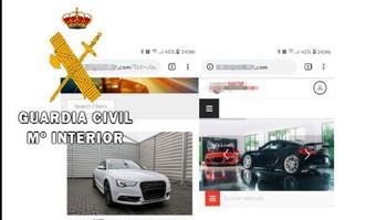 Dos detenidos por estafar en la venta online de coches