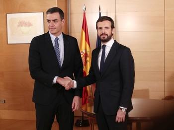 Casado rechaza apoyar a Sánchez mientras dependa de ERC