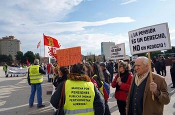 Manifestación en defensa de las pensiones públicas en Valladolid.
