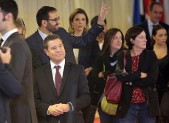 Emiliano García-Page llegando al Congreso de los Diputados.