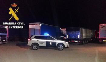 Cinco detenidos por robos en camiones