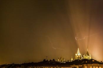 Tormenta de anoche en León.