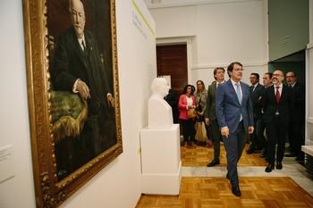 El presidente de la Junta , Alfonso Fernández Mañueco, inaugura la exposición 'Museo Numantino. Cien años 1919-2019'.
