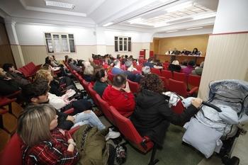 La reunión de los trabajadores del comercio se ha celebrado esta mañana en la sede de sindicatos.