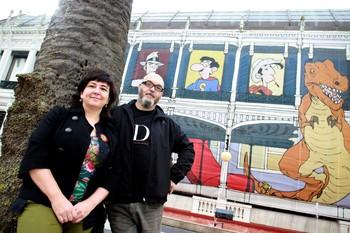 Los ilustradores premiados Cristina Durán y Miguel Ángel Giner