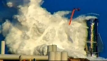 Una explosión destruye la nave interplanetaria de Elon Musk