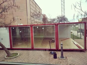 Comienza instalación de módulo que hará de cafetería de UCLM
