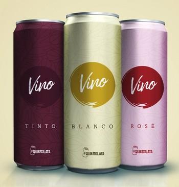 La lata derriba la puerta del vidrio en el mundo del vino