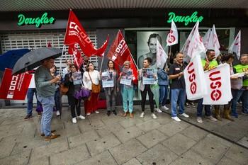 Protesta de trabajadores de Douglas en Ciudad Real.