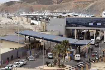 Paso del Tarajal, Ceuta, en una foto de archivo