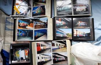 Detenido grafitero de Talavera por pintadas en 2.000 trenes