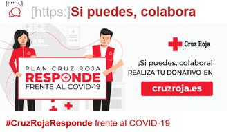 Imagen promocional del plan Cruz Roja Responde Frente al COVID-19.
