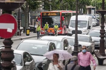 Vox denuncia que los buses se saltan la velocidad de 30 km/h