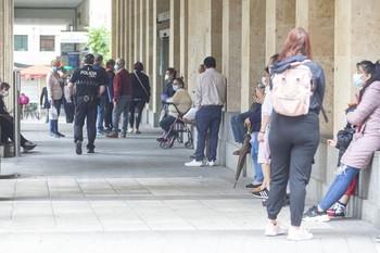 El Ayuntamiento recuperó la atención al público con colas