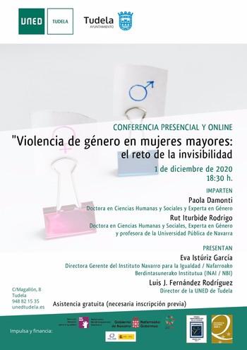 Una conferencia sobre violencia de género en mujeres mayores
