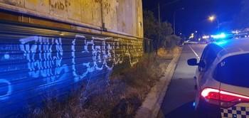 Pintadas vandálicas en Logroño.
