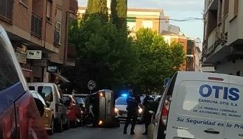 Un aparatoso accidente en la calle Libertad