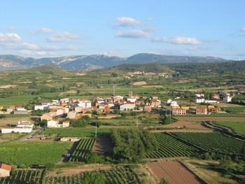 Vistas de la localidad riojana de Medrano.