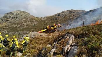 Tres heridos al caer un hidroavión portugués en Orense