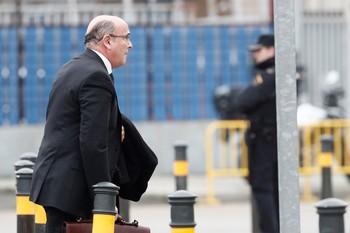 El coordinador del dispositivo policial del 1-O, Diego Pérez de los Cobos, a su llegada a los juzgados de la Audiencia Nacional
