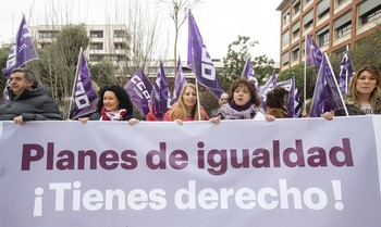 Imagen de una manifestación sindical.