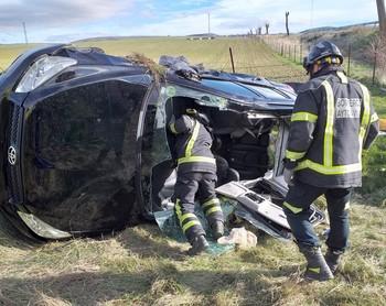 Once fallecidos en accidentes de tráfico en Ávila en 2019