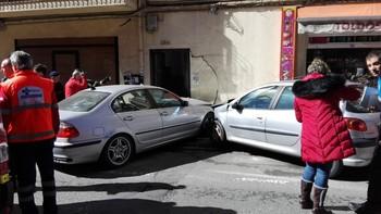 Dos personas heridas en la zona sur de la capital