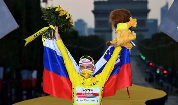El corredor esloveno, que fue tercero en la Vuelta de 2019, trajo para su país el primer triunfo en la ronda gala.