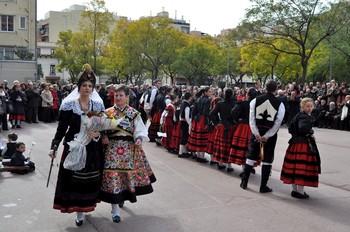 Imagen de archivo de los miembros de la Casa de Castilla y León en Barcelona.
