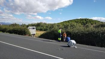 Un accidente en la N-232 entre dos camiones deja un herido