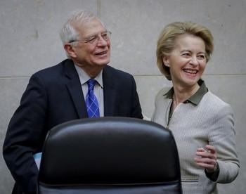 Josep Borrell, junto a la presidenta de la CE, Ursula Von der Leyen.