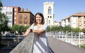Beatriz Álvarez vive en una de las casas cercanas a la iglesia de San Miguel, uno de los lugares que más le gusta a la periodista de Cadena Ser Palencia.
