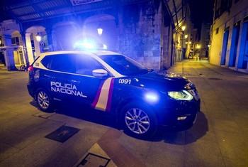 Imagen de una patrulla de la Policía Nacional en Burgos.