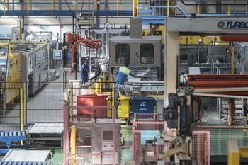 Interior de una fábrica.