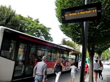 Nueva reducción desde mañana del servicio de bus urbano