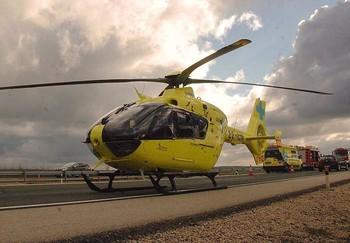 Helióptero de Sacyl, en una imagen de archivo.