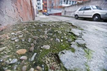 Primeros pasos para arreglar la calle La Camposa