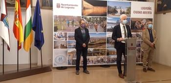 El alcalde de Logroño explica los detalles de la candidatura de Logroño a Ciudad Verde Europea.