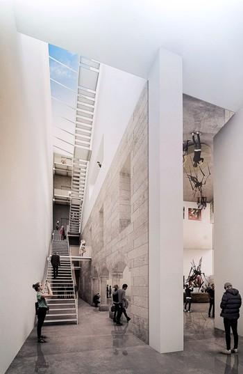 Recreación del interior del nuevo edificio de la calle Calera.