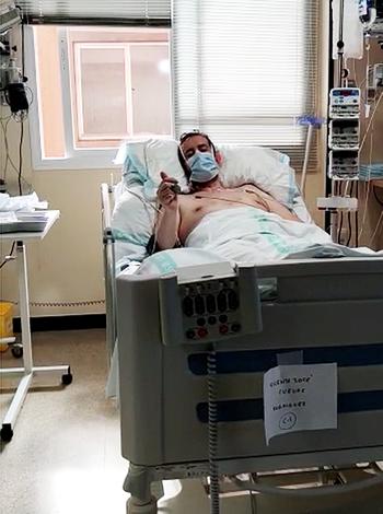 Primer extubado en el Hospital Santa Bárbara