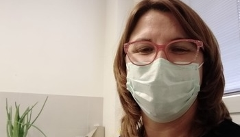 Lucía García, enfermera y delegada sindical en el Hospital.