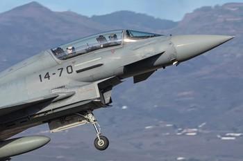 Una decena de pilotos del Ala 14 se entrenan en Canarias