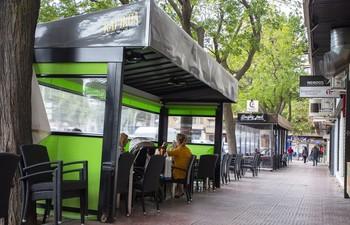 Terrazas de la zona del Torreón