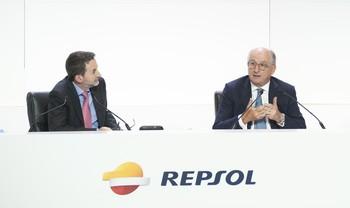El consejero delegado de Repsol, Josu Jon Imaz, y el presidente de la compañía, Antonio Brufau.
