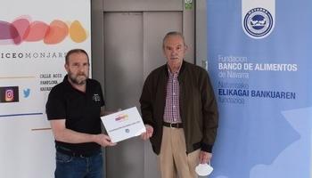 El IES Liceo Monjardín dona 500 kilos de alimentos