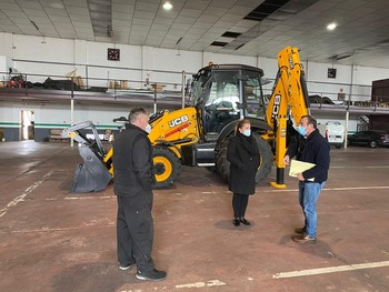 Diputación adquiere una pala cargadora con retro excavadora